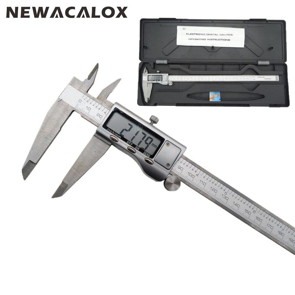 NEWACALOX outil de mesure en acier inoxydable LCD numérique étrier 12