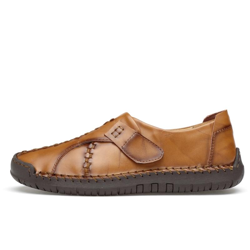 2019 Mâle De Hommes Chaussures Cuir Luxe Noir yellow Hombre Black Casual Misalwa Sur Plat En Brown Marque Zapatos Mocassins Glissement Printemps Brown red 5qp0wx5Az