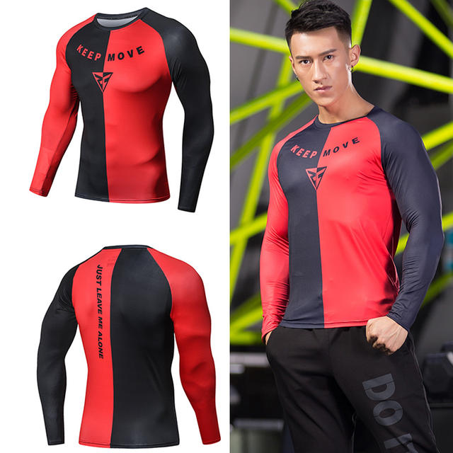 New Fashion Raglan Sleeve t-Shirt Homme men Letter 3D Printed Fitness Compression Shirts Casual male  t shirts men Clothing Tops