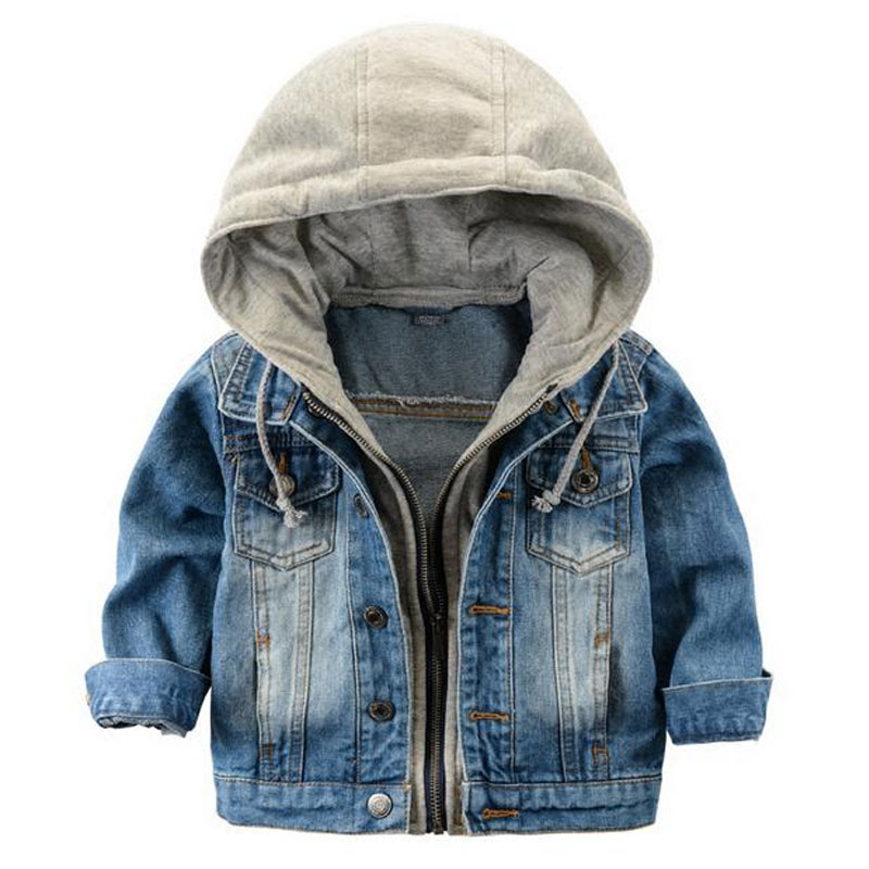 55199ce1d Fashion Denim baby Boys Children outerwear coat kids jackets for ...