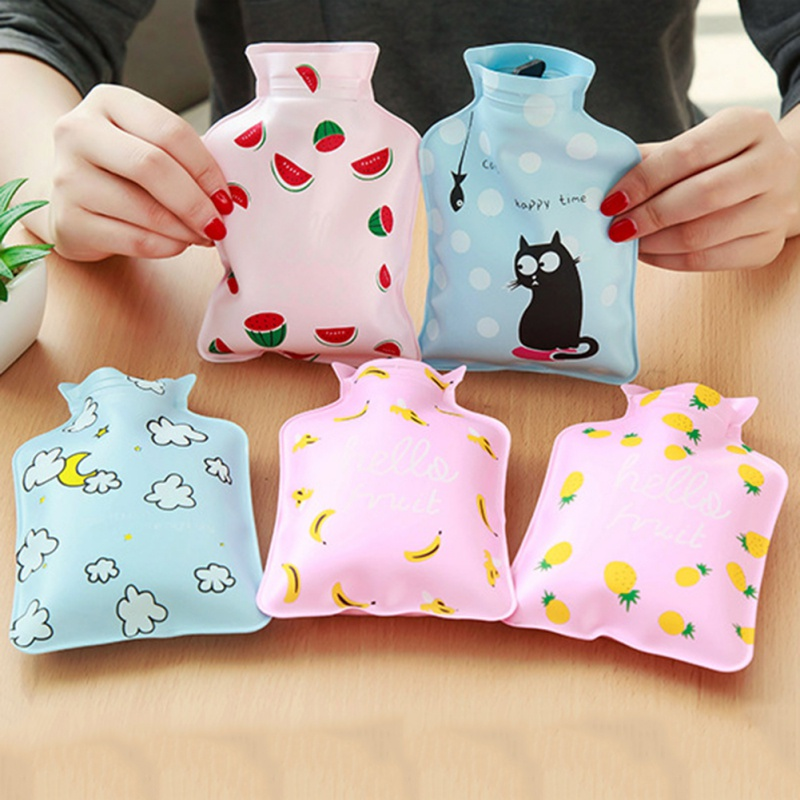 Functional Bags New Explosion-proof Bottles Cute Cartoon Kawaii Novelty Rubber Hand Feet Warming Water-filling Hot Water Bag 17x11cm