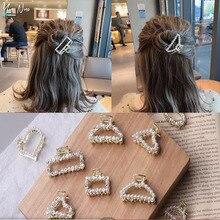 Geometric Imitation Pearl Hairpin