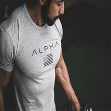 2017 summer new men cotton Short sleeve t shirt Fitness bodybuilding shirts Crossfit male Brand tee tops Fashion casual clothes