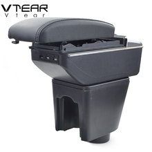 Vtear для hyundai getz подлокотник коробка usb зарядка повышение двойной слой центральный магазин содержание держатель стакана, пепельница аксессуары 05-08