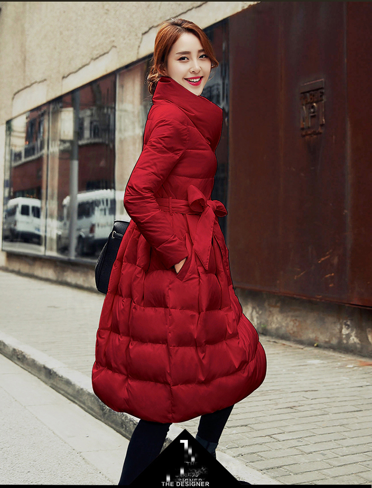 2017New Slim lace down jacket seem thin cloak type coat winter fashion hot-selling productsLarge size