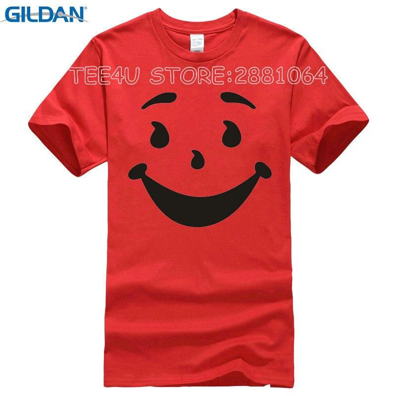 74bcfa7b 2017 Promotion Rushed No Tee4u Cool T Shirts Designs Best Selling  Broadcloth Kool Man Aid Face O-neck Short-sleeve Mens Shirt
