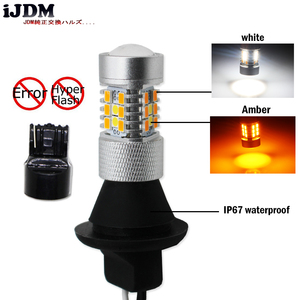 Image 3 - IJDM عالية الطاقة T20 7440 LED 28 SMD 3030 LED النهار تشغيل أضواء/بدوره أضواء الإشارة تحويل عدة ل 2015 up فورد موستانج