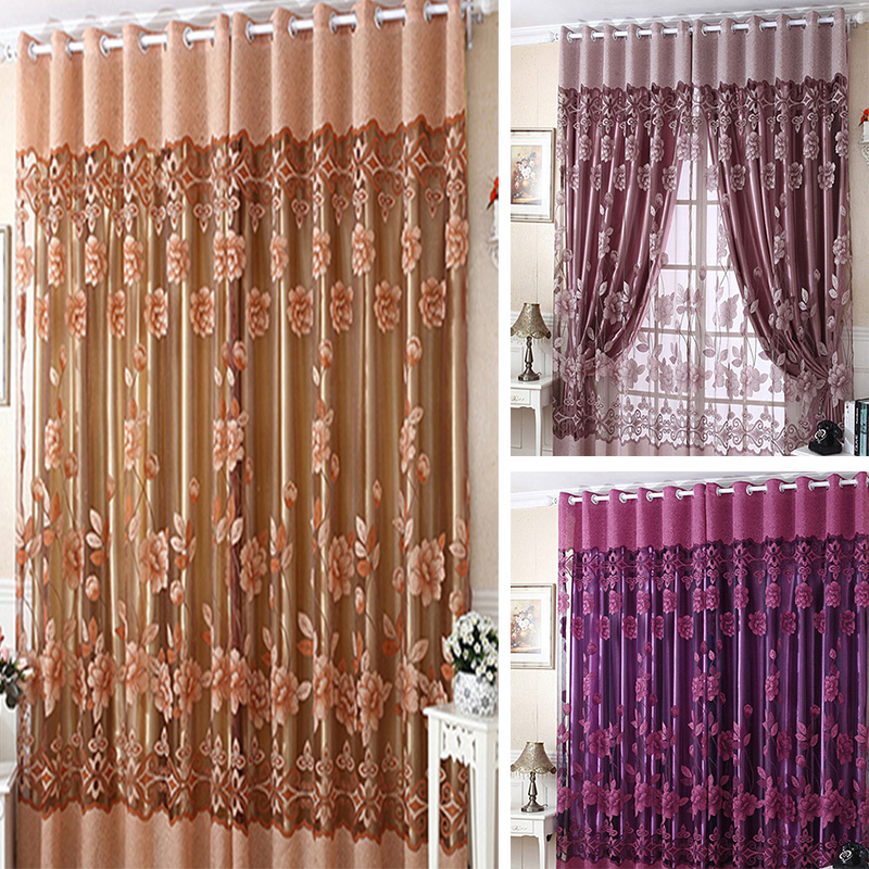popular curtain set buy cheap curtain set lots from china curtain set suppliers on. Black Bedroom Furniture Sets. Home Design Ideas