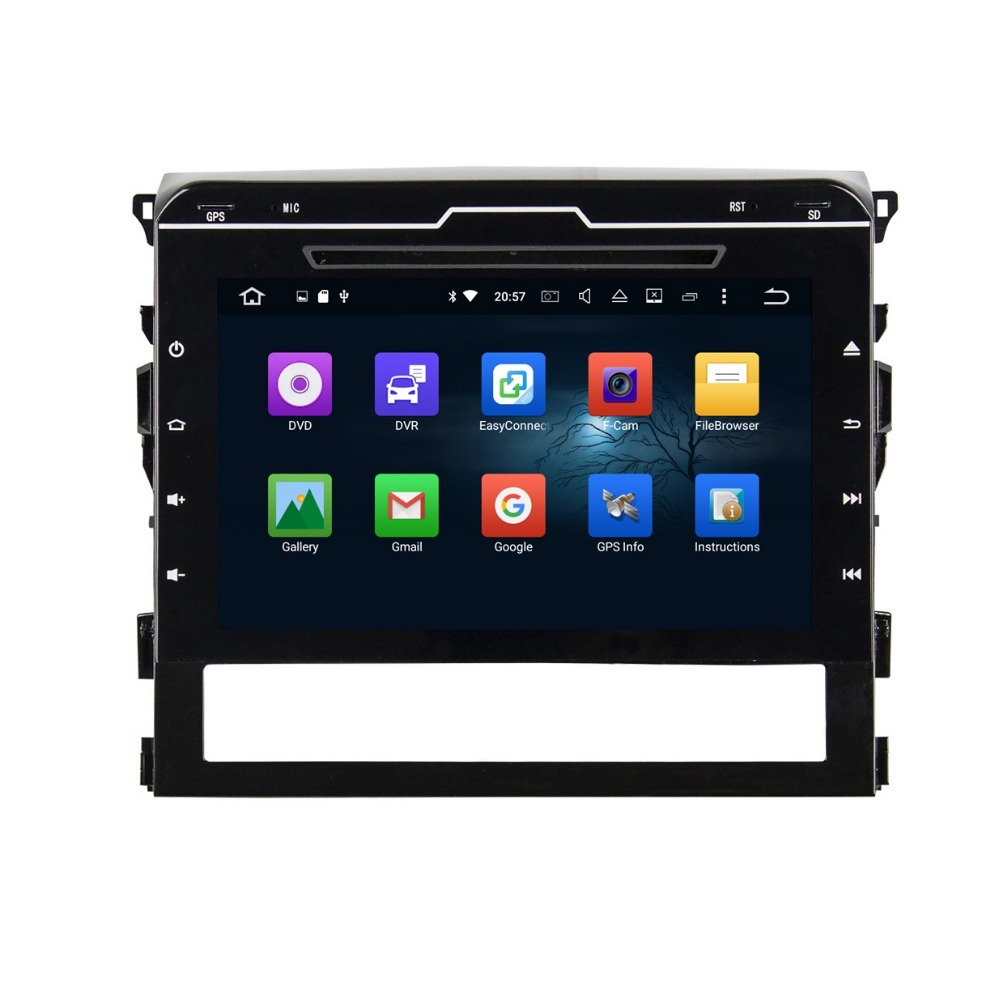 4GB RAM 9 Octa Core Android 6 0 Car DVD Player for Toyota Land Cruiser 2016