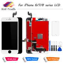 "Grade AAA Screen For Apple iPhone 6 6S 7 8 8Plus LCD Display and Digitizer Assembly 4.7"" 3D Touch Screen Replacement with Frame"