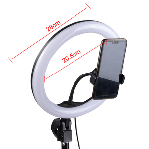 Image 4 - Photography Dimmable LED Selfie Ring Light Youtube Video Live 3200 5500K Photo Studio Light With Phone Holder, USB Plug & Tripod