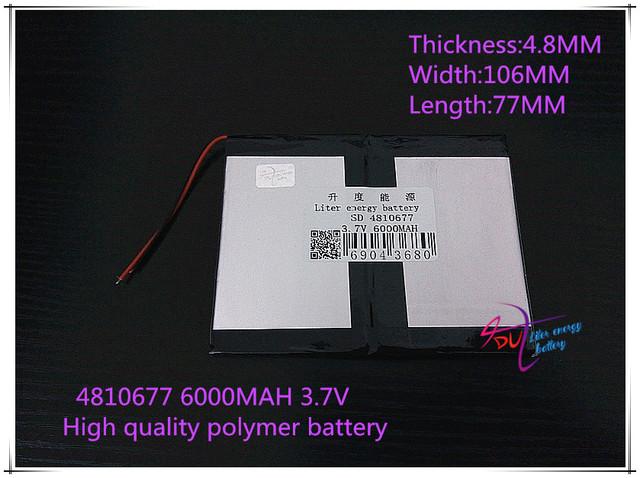 3.7 V 6000 mAH 4810677 bateria De Polímero de iões de lítio/bateria de Iões de lítio para tablet pc BANCO do PODER do telefone celular