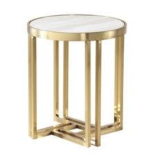 Круглый Кофейный Столик Из Нержавеющей Стали с мраморными краями