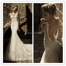 SexeMara 100%High Open Back Mermaid Wedding Dress Train
