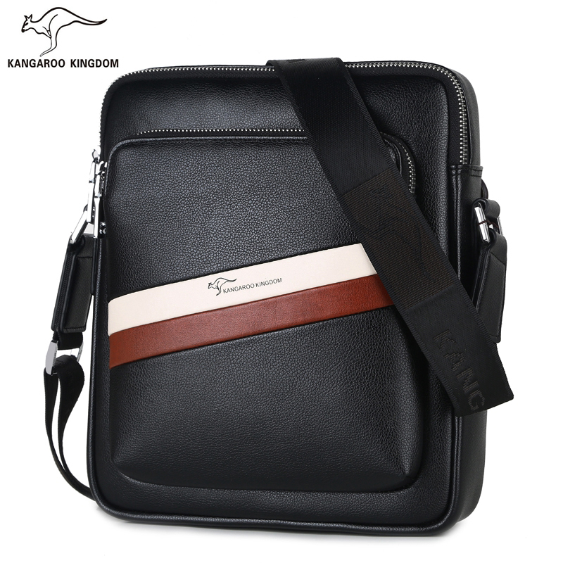 Kangaroo Kingdom Fashion Men Bag Pu Leather Casual Men Messenger Bags Crossbody Shoulder Bag
