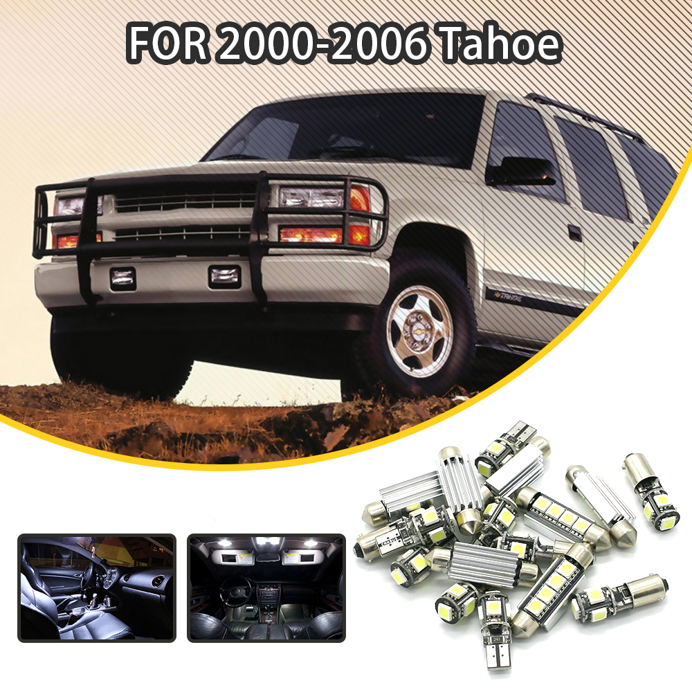360Lahl 12pcs White Car LED Light Bulbs Interior Package Kit For Chevrolet Tahoe 2000-2006 Dome Lights License plate light Map wljh 11x canbus 2835 smd led dome map interior light kit for chevrolet cruze equinox sonic malibu spark suburban traverse 2015