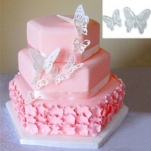 2 pcs/set Food-Grade Plastic Butterfly Shape Mold Cake Fondant Decorating Cookie Plunger Cutters DIY Baking Molds Pastry Tools