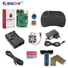 Raspberry Pi 3 Modelo B + Adaptador de Corriente + 16G SD Card + Keybaord + caso + Disipador de Calor + Cable HDMI + Cable GPIO GPIO Boaed + Ventilador para RP _