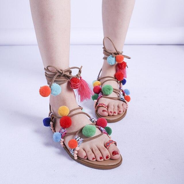 Nuevas sandalias de verano para mujer, cómodas, de talla grande, 43 zapatos, sandalias de gladiador de playa, zapatos étnicos para mujer, zapatos sencillos para mujer