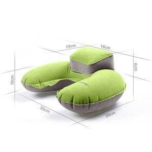 Image 5 - Oreiller gonflable pliable en forme de U, de voyage, en mousse à mémoire de forme, oreiller de voyage Super doux avec avion à Air, livraison directe