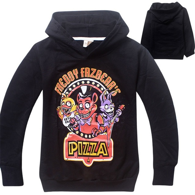 2016 Autumn Five Nights at Freddys Costume Bear Freddys Hoodie Kids Sport Ropa Brand Children Shirts Boys Long Sleeves DC1036