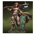 Assembly Scale  Resin Kits War Lords Verthandi 54MM Human Female Warrior Free Shipping