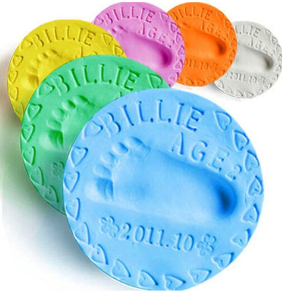 100g Handprint Mud Baby Hand And Foot Print Baby Hand And Foot Mold Hundred Days Gift Gift Hand And Foot Print