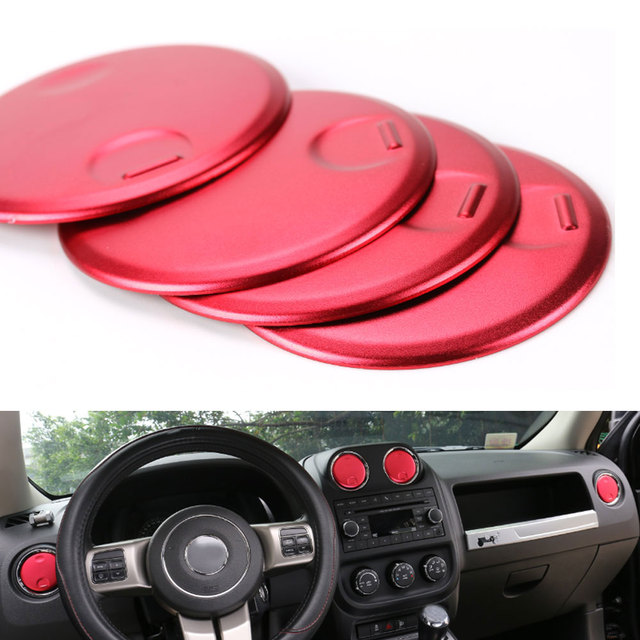 0d95f8f4b53 Dashboard Console Instrument AC Air Vent Outlet Cover Trim Round Decoration  Fits for Jeep Compass Patriot