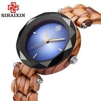 SIHAIXIN Gem Natural Bamboo Wood Women Wrist Watches 2018 Top Luxury Ladies Quartz Watch Brand As Creative Clock Christmas Gifts