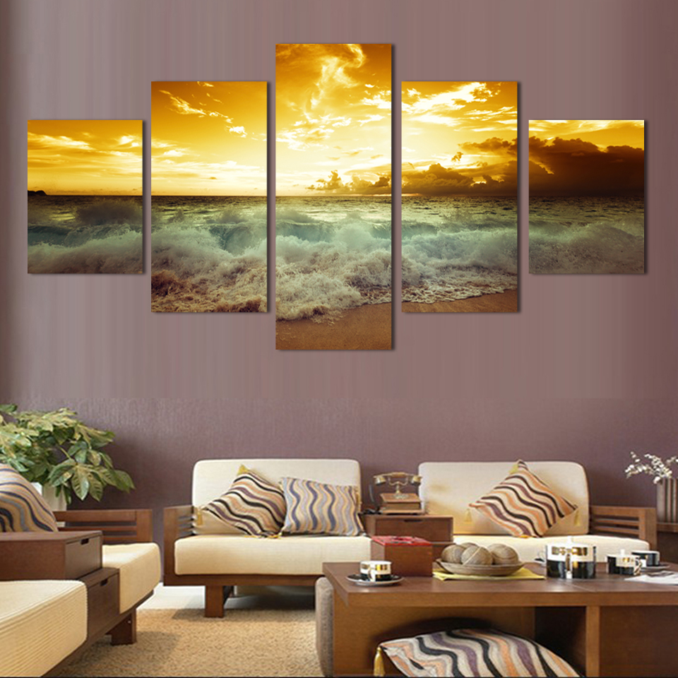 Large Paintings For Living Room Online Get Cheap Full Wall Art Aliexpresscom Alibaba Group