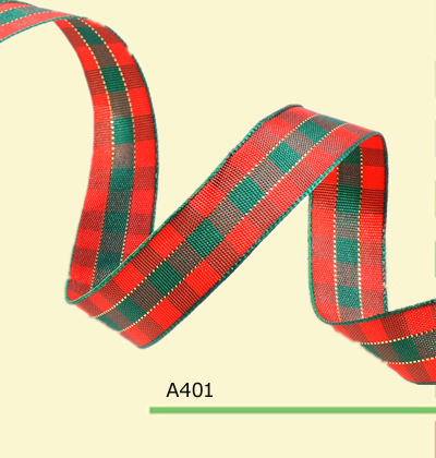 100yardsroll 38 inch10mm scottish plaid ribbon for holiday decoration