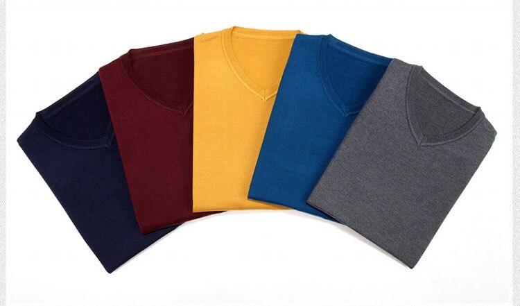 Брендовая новая мужская одежда зимний свитер с v-образным вырезом вязаный размер свободный пуловер Мужской пуловер плюс размер свитер бренд
