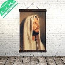 купить!  Голова Бога Иисус Христос Свиток Живопись Холст Старинные Плакат и Печать Wall Art Pictures Гостиная