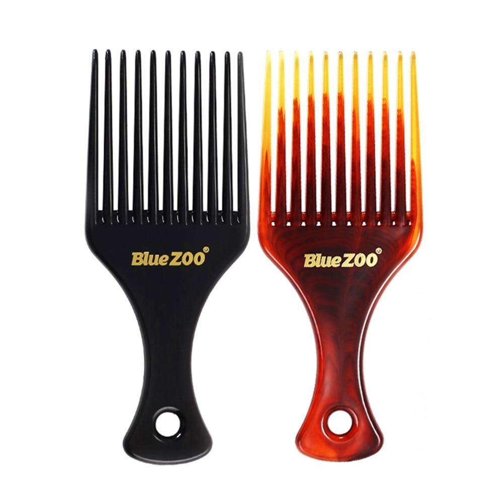 Купить с кэшбэком 1pcs Portable Comb Hair Brush Insert Afro Hair Pick Comb Hair Combs Oil Slick Cool mans Styling HairBrush Hairdressing Accessory
