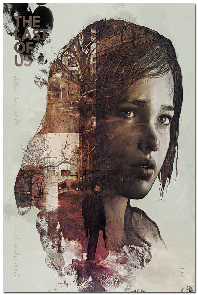 The Last of Us Silk Wall Poster Zombie Survival Horror Action TV Game