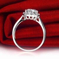 Роскошные ГИА алмаз Для женщин Обручение кольцо 0.5 + 0.23ct GIA Ювелирные изделия с алмазами 18 К из белого золота ручной работы обручальное