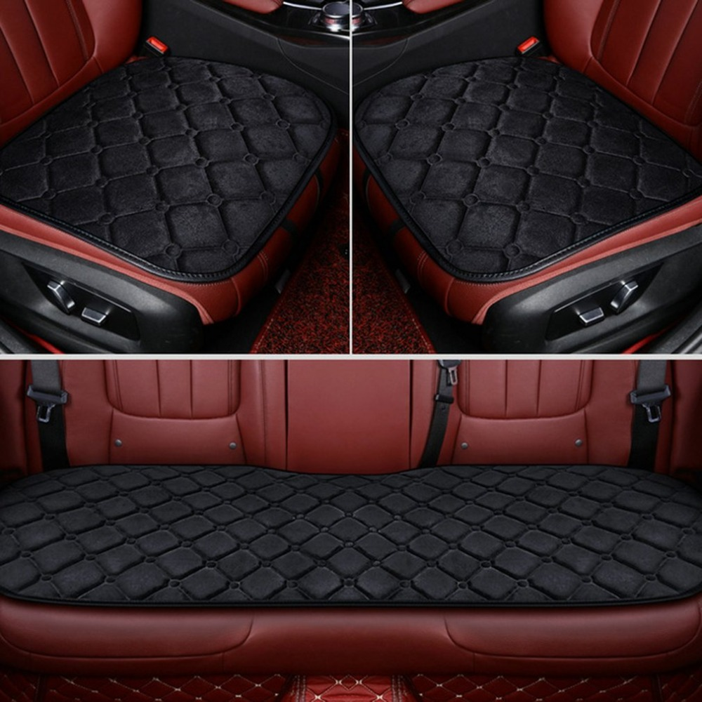 Plush-Cover Car-Seat-Cushion Winter Backrest Without Three-Piece Fit-For All-Cars