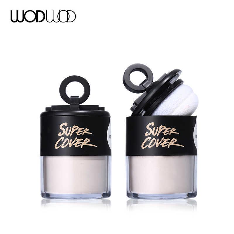 WODWOD гриб матовая Рассыпчатая установка пудра прозрачный шелковистый контроль масла консилер для лица отделка кожи пудра основа для макияжа