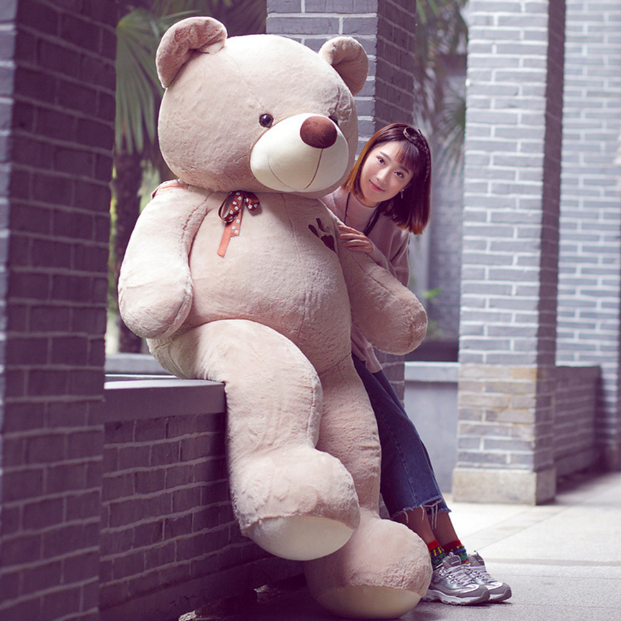 80cm to 160cm Teddy Bear Large Giant Decoration Plush Big Stuffed Animals Cute Soft Toys Teddy Bears Dolls Girls Gifts 50T0519 the new arrival hot dress stuffed teddy bear doll sit plush dolls bears direct manufacturers wholesale for kids toys