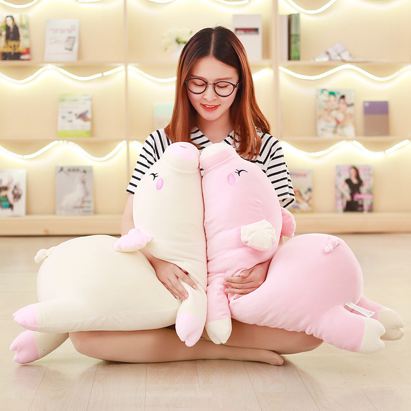 Soft Papa Pig Pillow Plush Toy White/Pink Stuffed Animal Doll Kawaii Decoration Cushion Girl Birthday Valentine's Day Gift F053 lovely giant panda about 70cm plush toy t shirt dress panda doll soft throw pillow christmas birthday gift x023