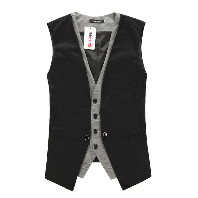2016 New Fashion Autumn Men's Waistcoat Causal Slim Sleeveless Coat Business Suit Vest M-2XL Free Shipping J267