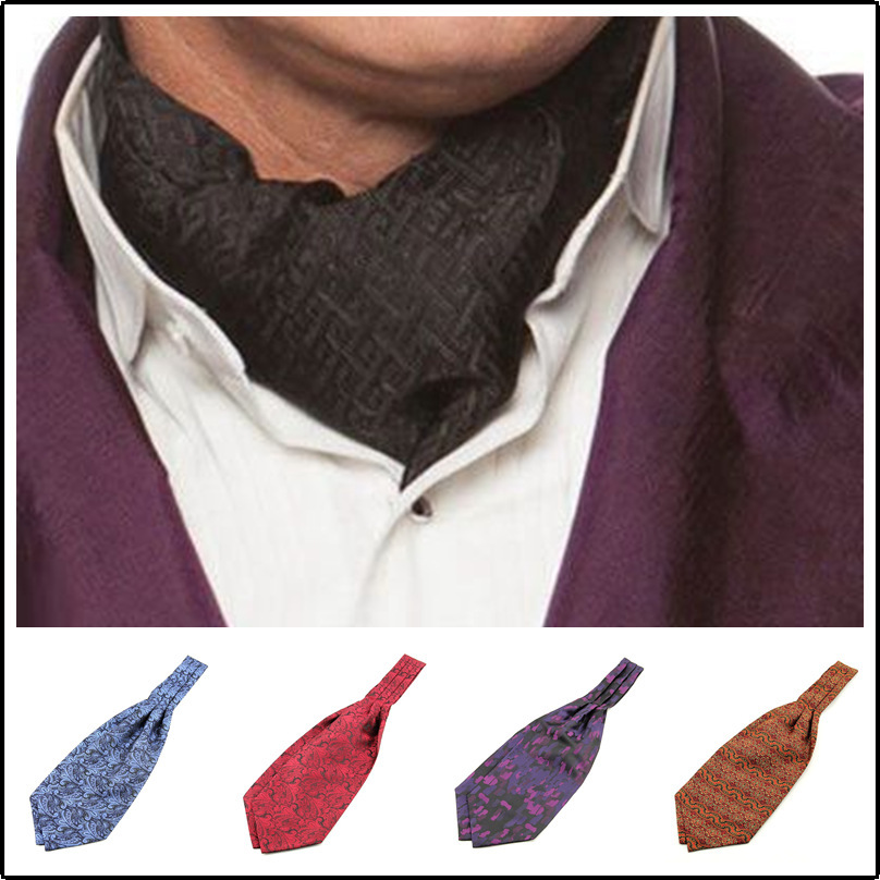 Fashion Men's Shirt Jacquard Scarf Flower Handsome Scarf Neckerchief