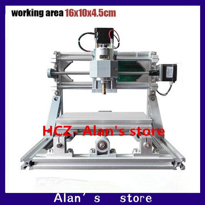 1610 CNC contrôle GRBL bricolage Mini machine à CNC, zone de travail 16x10x4.5 cm, 3 axes fraiseuse Pcb, routeur en bois, routeur de CNC