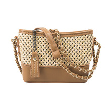 New Summer  Chain Single Shoulder Straw Bagging Fashion Hundred Sets of Leisure Vagrant Bags