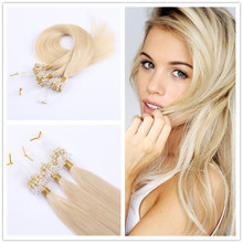0.5g/s  Brazilian Micro Ring Loop Hair Extension Brown Straight Hair Color Micro Loop Hair Extensions