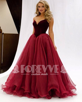 New Real Photo Burgundy Prom Dresses 2019 Velvet Sweetheart Floor Length Party Gowns Cheap Clothes China Kaftan Vestido Longo