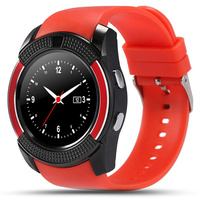 Q7 Bluetooth Smart Watch For Android Phone Support SIM Pedometer Sport Wristwatch Round Screen Bluetooth Notification