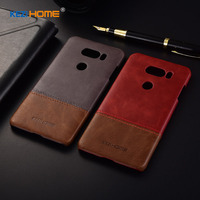 For LG V30 Case Two Colors Genuine Leather Back Shell Cover Case For LG V30 Coque