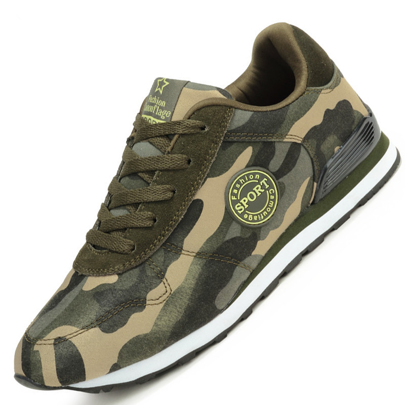 Fashion Lovers Unisex Canvas Shoes Camouflage Military Men Casual Shoes Autumn Breathable Camo Flats Men Chaussure