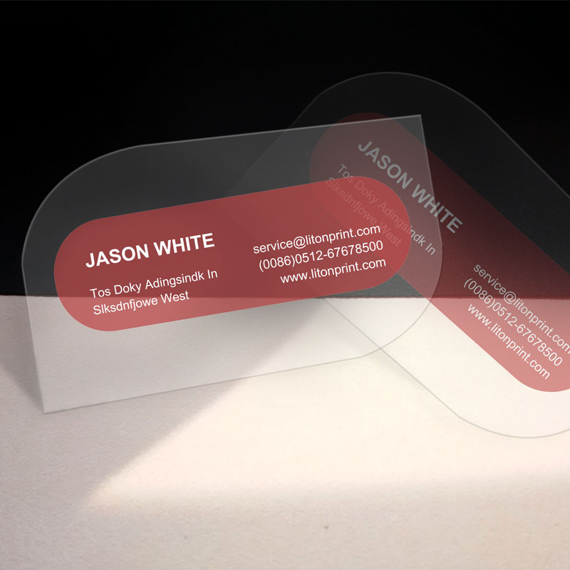 Custom Transparent PVC Business Cards Clear Plastic PVC Plastic ...